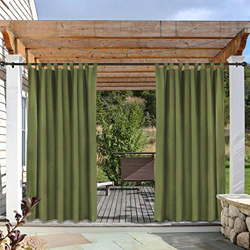 cololeaf Indoor/Outdoor Curtains for Patio Waterpoof for sale  Delivered anywhere in USA