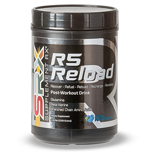 Supplement Rx - R5 Reload, Post-Workout Powder BCAA Supplement Recovery, Blue Raspberry, 30 servings