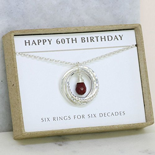 60th Birthday Gift July Birthstone Necklace For Mum Ruby Jewellery