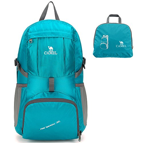 Price comparison product image Camel 35L Packable Travel Backpack Ultralight Backpack Foldable Daypack Turquoise Color