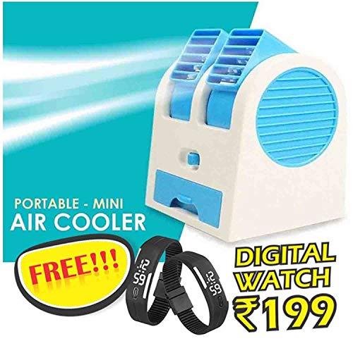 VOLTAC Mini USB Fragrance Air Conditioner Cooling Fan Cooling Portable Desktop Dual Bladeless Air Cooler   Assorted Color