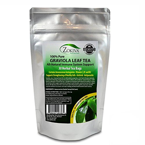 Graviola Tea (30 Bags) Soursop - Annona muricata - Guanabana - Premium Quality 100% Pure Leaf