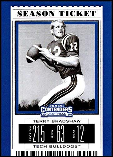 8566bbddf 2019 Panini Contenders Draft Season Ticket  93 Terry Bradshaw Louisiana  Tech Bulldogs NCAA Football Trading Card