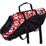 Flowt Dog Life Vest 40902-2-M Dog Life Vest, PFD, Red, Medium,