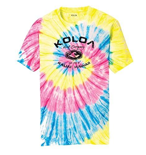Koloa Surf Vintage Arch Logo Tie Dye Shirts in Sizes S-4XL