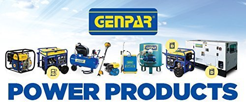 GENPAR - Manual Grain Grinder with High Hopper - Table Clamp Hand Corn Mill, Cast Iron