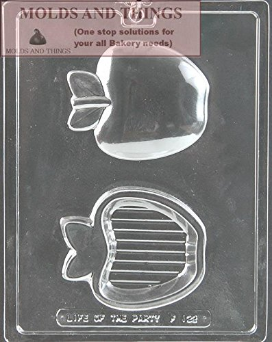 (Apple pour Box Chocolate Candy Mold With © Candy Making Instruction - set of 2)