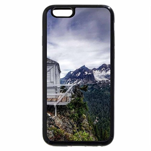 iPhone 6S / iPhone 6 Case (Black) forest fire station perched on mountain top