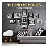 11pcs Black Photo Frame Set Hanging Picture Modern Display Home Wall Art Decor