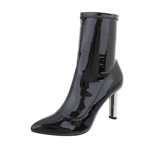Zapatos para Mujer Botas Tacón de Aguja Botines de tacón Negro Tamaño 39: Amazon.es: Zapatos y complementos