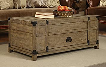 Treasure Trove Accents 67456 Lift Top Cocktail Table, 43.5 x 23.5 x 18 , Natural