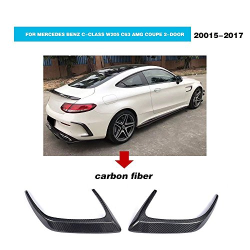 for Mercedes C-Class W205 C63 AMG Coupe 2 Door 2015 2016 2017 MCARCAR KIT Rear Bumper Vents Customized Real Carbon Fiber Body Kit Amg Body Kits