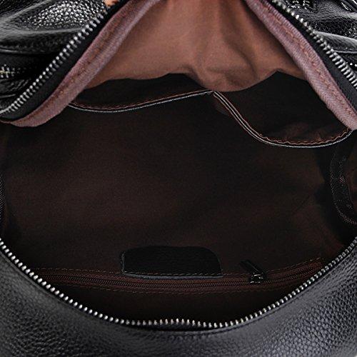Sac portés Sac Noir femme épaule portés LF main dos à cuir Sac en 88039 fashion Valin 7FpqUfx