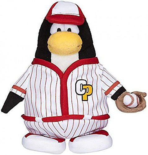 Disney Club Penguin 6.5 Inch Series 7 Plush Figure Baseball Player Includes Coin with Code! (Club Penguin Plush Toys)