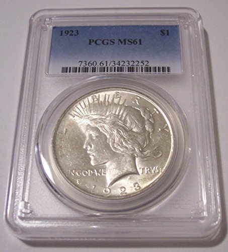 1923 Peace Silver Dollar MS61 PCGS