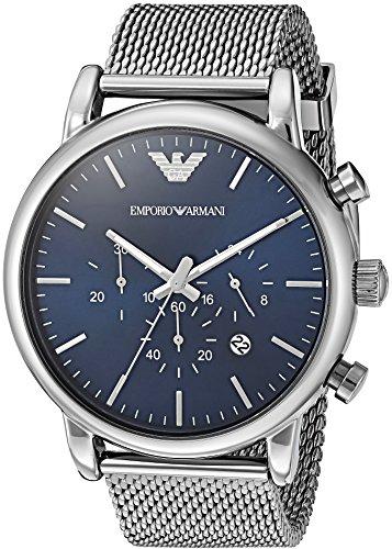Emporio Armani Men's AR1979 Analog Quartz Grey Stainless Steel Watch