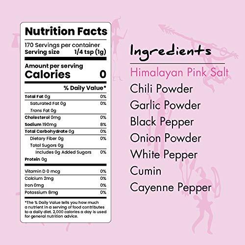 Paleo Powder All Purpose Seasoning with Himalayan Pink Salt. The Original Paleo Food Seasoning with Pure Himalayan Salt for all Paleo Diets! Certfied Ketogenic Food, Whole 30, Gluten Free - 24 oz. 2