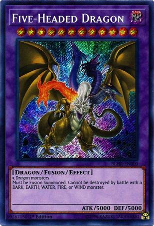 Yu-Gi-Oh! - Five-Headed Dragon - BLHR-EN000 - Secret Rare - 1st Edition - Battles of Legend: Hero's Revenge
