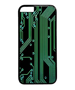 VUTTOO Iphone 6 Case, Electronic Circuit Green Black Hard Plastic Case for Apple iPhone 6 4.7 Inch PC Black