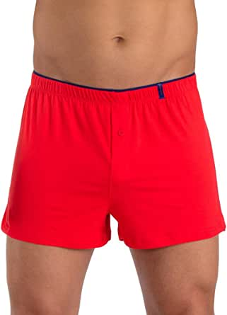 papi Men's Solid Skins Peached Jersey Boxer Shorts