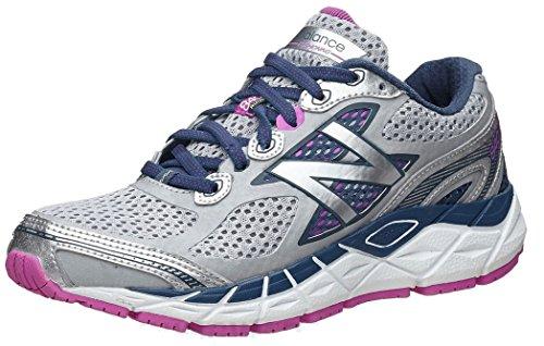 New Balance Women's W840V3 Running Shoe,Silver/Navy,9 D US