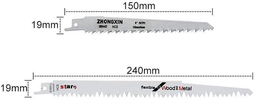 10PCS Lame scie sabre Pour Dewalt Bosch Hitachi Flex Makita Pack 240mm 150mm