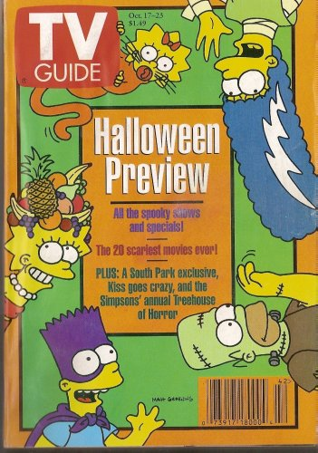 Tv Guide Back Issue 1998 October 17-23 Halloween Preview (The Simpsons Cover, 46)]()