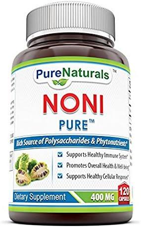 Pure Naturals Noni – 400mg Capsules – 120 Capsules