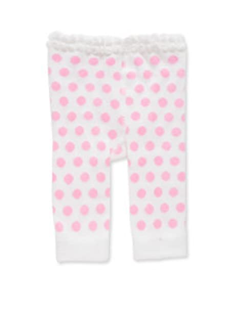 38b7691cd69ea Image Unavailable. Image not available for. Color: K&K Interiors Toddler  Girl Legging 12-18 Month White/Pink ...