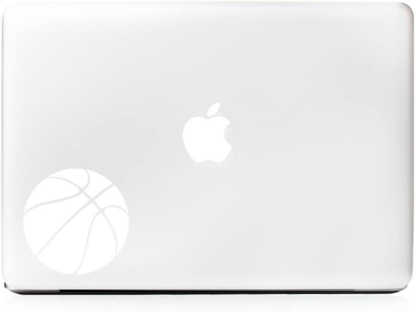 (2X) StickAny Laptop Series Basketball Simple Sticker for MacBook Pro, Chromebook, Surface Pro, and More (White)