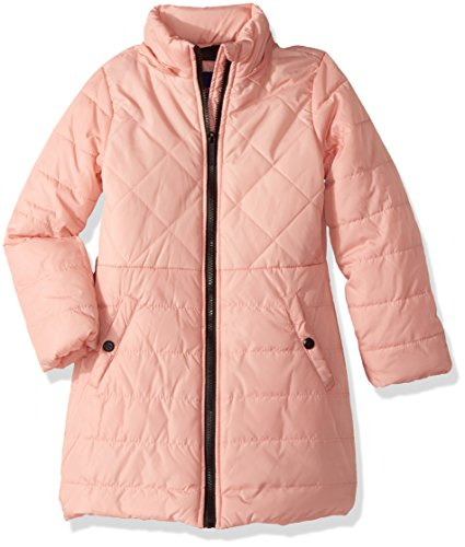 LiMiTeD Too Little Girls' Too Multi Quilted Long Puffer Coat W/Printed, Blush, 4 by Limited Too (Image #2)
