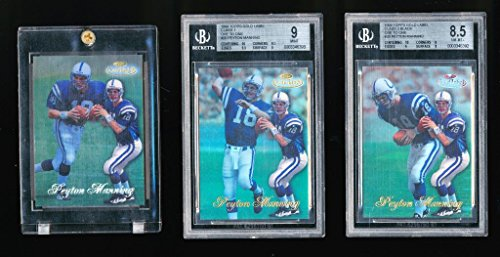 Topps Label Gold 1998 (1/1 PEYTON MANNING 1998 TOPPS GOLD LABEL CLASS 1, 2, 3 ONE TO ONE ALL 3 EDITIONS)