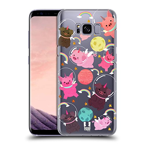 - Head Case Designs Pig Space Unicorns Hard Back Case for Samsung Galaxy S8