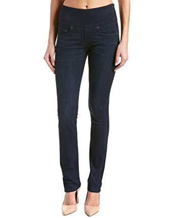 Spanx Womens The Signature Straight High Rise Side Zip Straight Leg Jeans  at Amazon Women's Jeans store