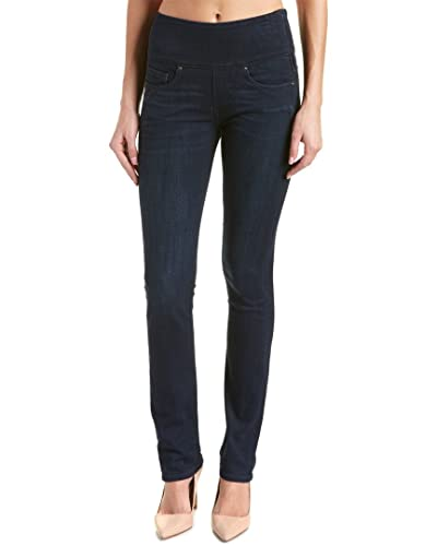 Spanx Womens The Signature Straight High Rise Side Zip Straight Leg Jeans
