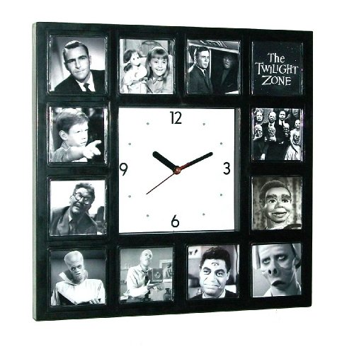 BIG The Twilight Zone wall or desk Clock with classic episode scenes