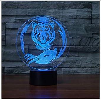 Visuelle Lampe 3d Illusion Tigre Nuit Lumière Transparent Acrylique CxdeWBro