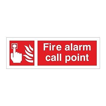 Pulsador de alarmas de incendio 300 x 100 autoadhesivo de ...
