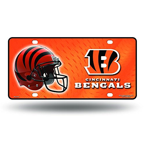 Cincinnati Bengals License Plate - NFL Cincinnati Bengals Metal License Plate Tag