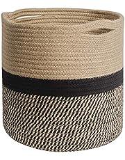 Czhxtqz Storage Bins Cube Organizer Baskets, Plant Pot Cover Woven Planter Basket Laundry Basket with Handles Modern Home Decor