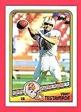 Vinny Testaverde 1988 Topps Football Rookie Card **Centered** (Buccaneers) (Jets) (Browns)