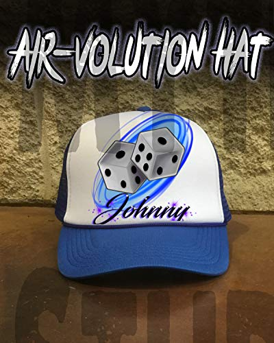 (Personalized Airbrushed Dice Snapback Trucker)