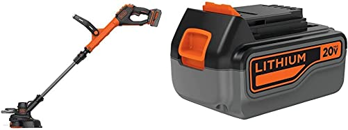 BLACK DECKER LSTE523 Li-On String Trimmer with Extra 4-Ah Lithium Ion Battery Pack LSTE523 LB2X4020