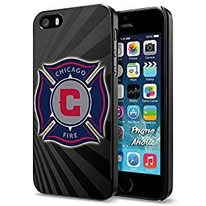 diy zhengSoccer MLS CHICAGO FIRE FC LOGO SOCCER FOOTBALL, Cool Ipod Touch 4 4th Smartphone Case Cover Collector iphone Black