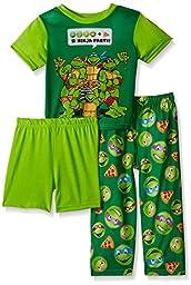 Nickelodeon Boys\' Toddler Boys\' Ninja Turtles 3-Piece Pajama Set, Green, 2T