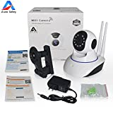 IP Camera,Auto Safety HD Series 720p Wireless WiFi Security Network Surveillance Camera system , Plug and Play, Pan/Tilt Remote Motion Detect Alert with 2-Way Audio, Infrared Night Vision, Motion Detection, Baby Monitor,PC/iPhone/ Android View