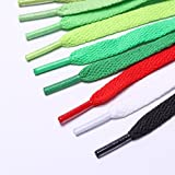"""47"""" Solid Color Elastic Flat Shoelaces for Sneakers"""