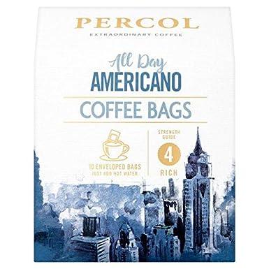 Percol Rainforest Alliance All Day Americano Coffee Bags 80g