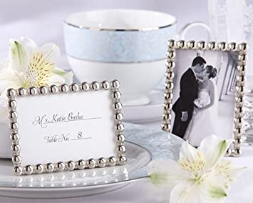 Amazoncom Silver Pearls Mini Photo Frame 48 Count Party Favors