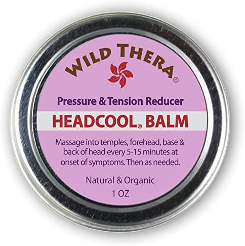 Wild Thera Migraine Headache balm with essential oils for headache relief. Herbal headache soother and headache oil for lasting relief. Co-therapy with Headache Hat, Eye mask, Ice pack, headache wrap.